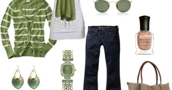 Casual green, metallic shoes
