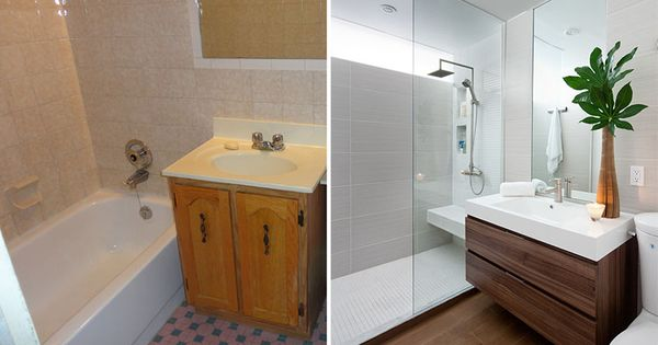Before after a small bathroom renovation by paul k for Small bathroom design toronto