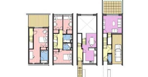 Typical townhouse plan hfm architects campbell heights for Typical brownstone floor plan