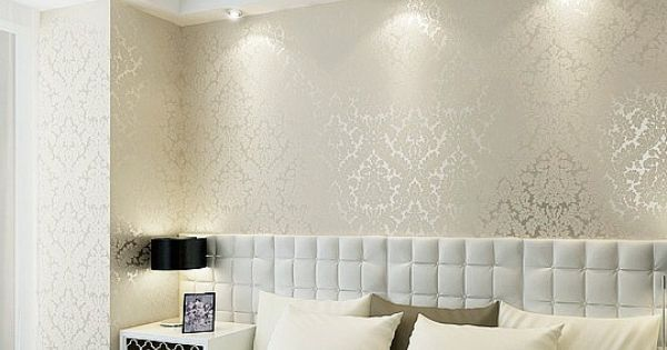 High End 10m Luxury Damask Embossed Textured Wallpaper