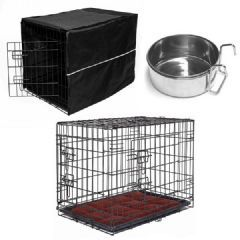 Buy Petplanet Dog Cage Kit With Mat Bowl And Cover At Guaranteed Cheapest Prices With Express Free Delivery Available Now Dog Cages Dog Crate Mats Dog Crate