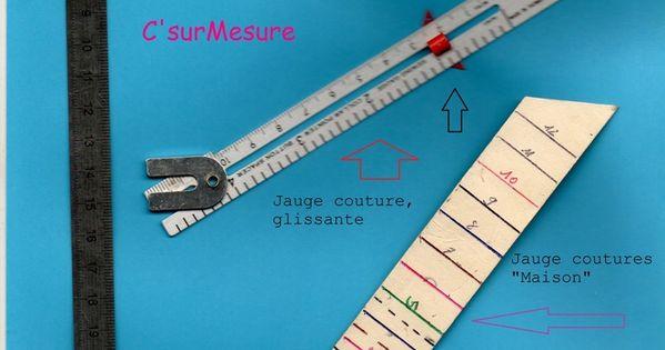 Des petites regles pour mesurer les valeurs de coutures ourlets petites pieces - Regle pour mesurer ...