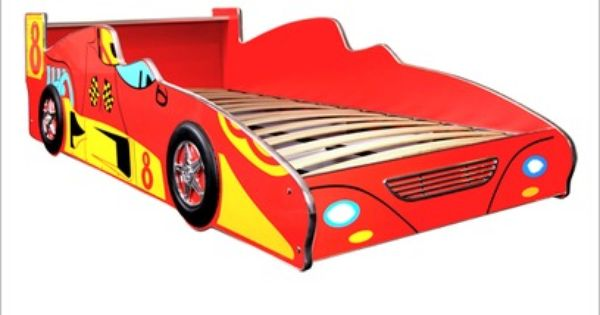 Racing Car Bed In Red With Images Race Car Bed Car Bed Bed Decor