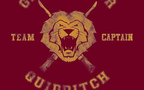 Gryffindor Quidditch Team Captain T Shirt Harry Potter Quidditch Harry Potter Wallpaper Hogwarts Quidditch