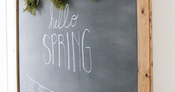 How To Make Your Own Large Hanging Chalkboard Diy