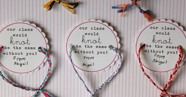 Cute friendship bracelet valentine idea!