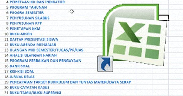 24 Berkas Administrasi Guru Dalam 1 File Excel Berkas Sekolah Matematika Kelas 5 Sekolah Guru