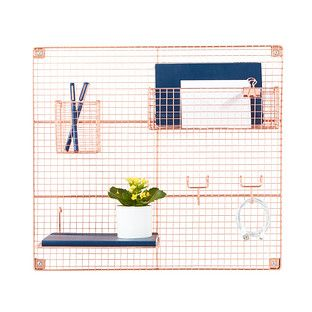 Copper Wire Wall Grid And Components At The Container Store Keep Work Surfaces Clear Of Clutter With Our Brilliant Container Store Cubicle Walls Wall Pockets