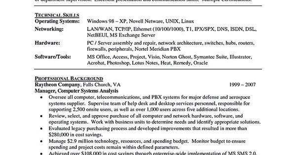 it manager resume consist of objective or summary skills