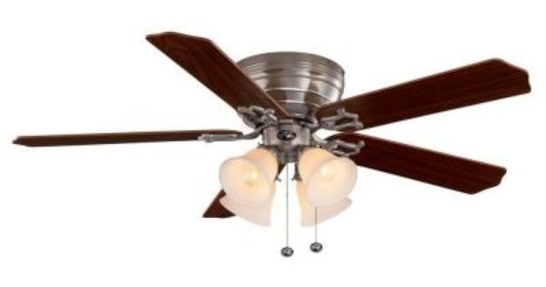 Hampton Bay Carriage House 52 In Indoor Brushed Nickel Ceiling Fan 46010 At The Home Depot Homedeco Ceiling Fan Brushed Nickel Ceiling Fan Hampton Bay Ceiling Fan
