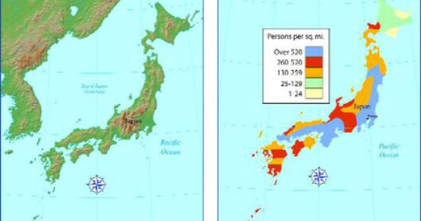 Review Map Compass Rose Japan