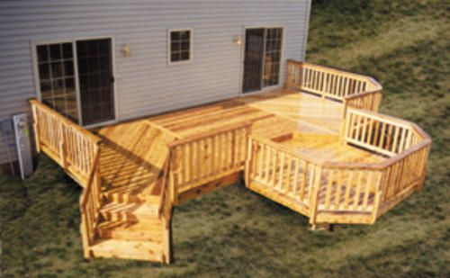 12 X 26 Deck W 10 X 10 Octagon Deck Building A Deck Decks And Porches