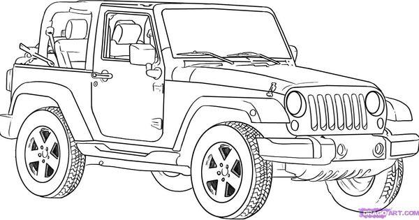 How to Draw a Jeep Wrangler http wwwdragoarttuts181411howtodrawajeepwrangler