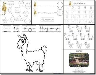 Is Your Mama A Llama Activities Letter Activities Preschool