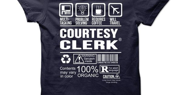COURTESY CLERK Multi Tasking Problem Solving T-Shirts, Hoodies - courtesy clerk
