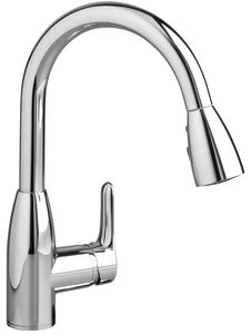 American Standard Colony Soft 1 5 Gpm Single Handle Deck Mount Kitchen Sink Faucet Poli Pull Out Kitchen Faucet Kitchen Faucet Chrome Kitchen Faucet