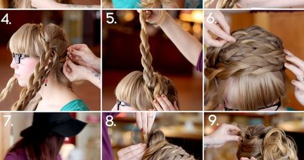 how to style maiden braids. For longer hair, but so cute!