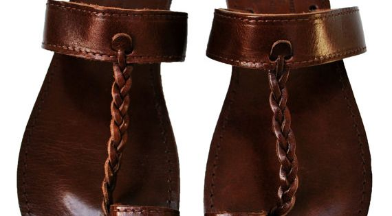 Dark Brown Leather Sandals by NikolaSandals on Etsy, $29.50