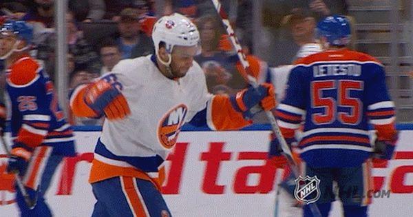New Party Member Tags Sports Hockey Nhl Woo Ice Hockey Fist Pump Islanders New York Islanders Uppercut Ny Islanders Funny Gif Sport Hockey New York Islanders