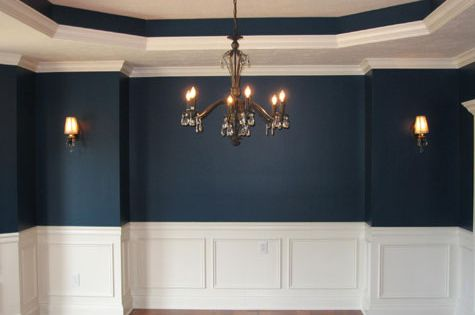 Molding for the dining room wall formal dining room for Formal dining room chandelier