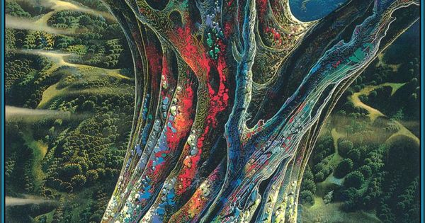 California landscape - Eyvind Earle - the great jewel tree