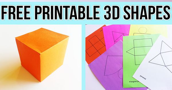 Free Printable Nets To Make 3d Shapes Perfect Hands On
