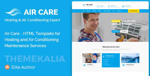 Air Care Html Template For Heating And Air Conditioning