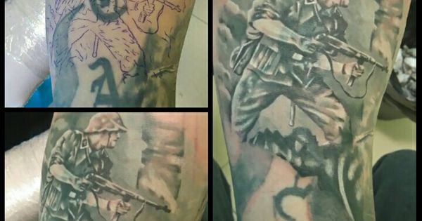 German soldier tattoo (cover up) | tattoo | Pinterest ...