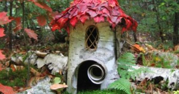 Birch fairy home... Forest Birch House by Sally J. Smith. Fine Art Marketplace