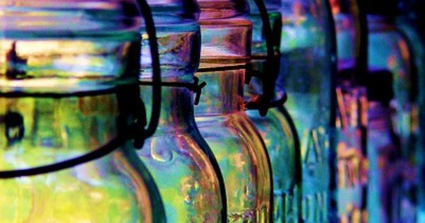 Colored Glass Canning Jars | canning jars