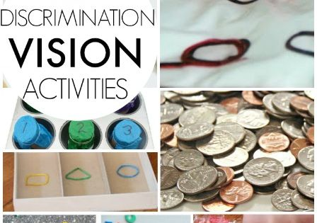 Visual Discrimination Activities for kids - great home activities for OT occupational