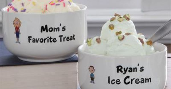 Personalized Ice Cream Bowls - Family Characters Personalized Ice Cream Bowls