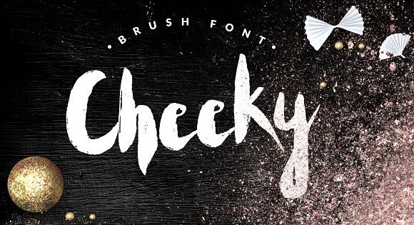Cheeky–handwritten brush font+BONUS by CreativeFolks