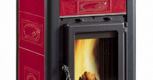 la nordica fulvia forno poele a bois avec four couleur bordeaux bricolage. Black Bedroom Furniture Sets. Home Design Ideas