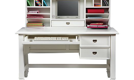 Shop For A Belmar White 2 Pc Desk And Hutch At Rooms To Go