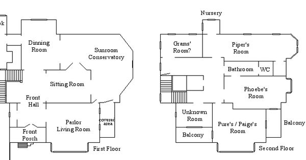 Collection of halliwell manor floor plan remarkable for Charmed house floor plan