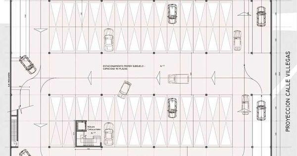 Resultado de imagen para planos de estacionamientos con for Medidas de arquitectura