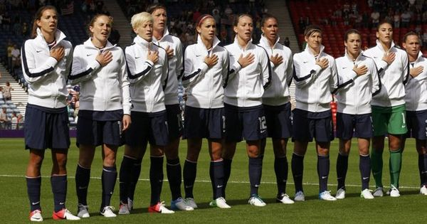 Image detail for -U.S. national soccer team players sing their national anthem