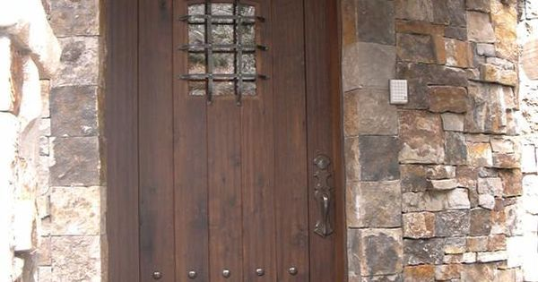 Rustic Entrance Doors Description Rustic Walnut Entry