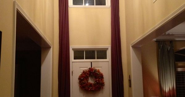 Two story foyer drapes decorating ideas pinterest for Where to buy atrium windows