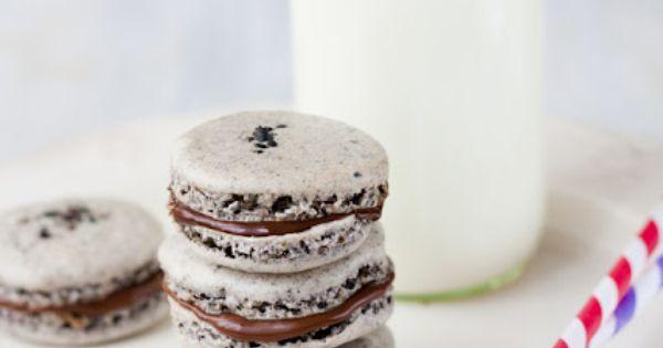 Black Sesame Macarons | *Macarons* | Pinterest | Black Sesame ...