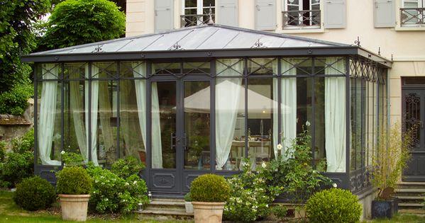 photo v randa victorienne avec toiture en zinc verriere d ext archit anglaise ou. Black Bedroom Furniture Sets. Home Design Ideas