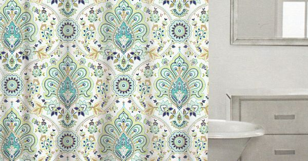 Amazon Com Caro Home 100 Cotton Shower Curtain Floral