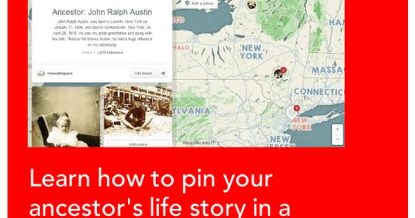 Learn how to pin your ancestor's life story in a timeline on