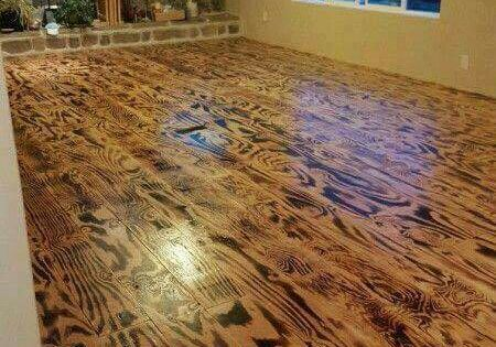 Flooring Made From Scorched Plywood Love Barn