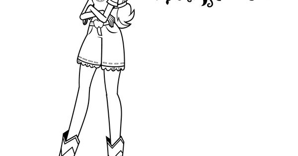 Print an applejack coloring sheet for my little pony for My little pony legend of everfree coloring pages
