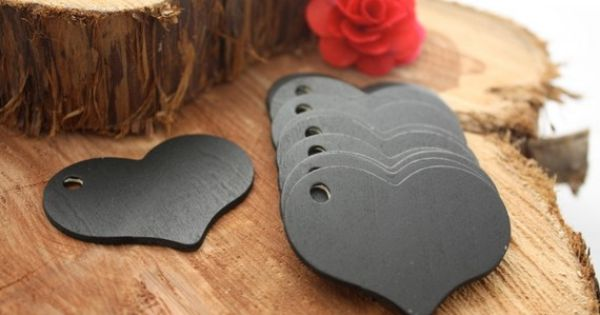Chalk board gift tags! Reusable! These little wood cutouts are cheap at