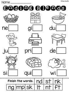 Ending Blends Worksheets And Activities With Images Blends