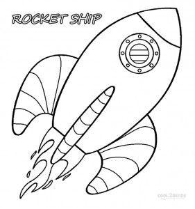 Free Coloring Book Rocket Ship Design