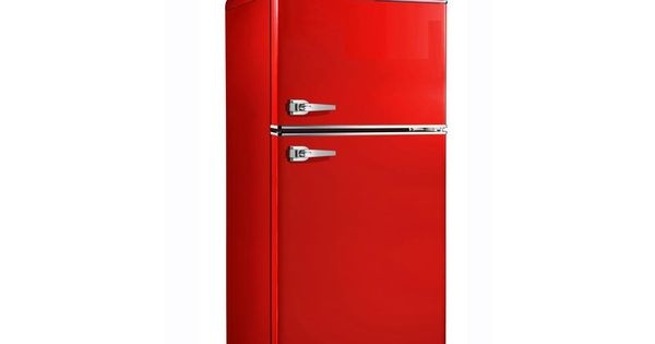 7 6 Cu Ft Mini Refrigerator In Red Bcd 215v 62h The Home Depot Red Refrigerator Refrigerator Cool Mini Fridge